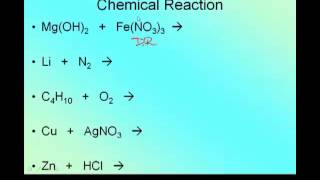 Writing And Balancing Reactions  Predicting Products
