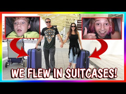 WE FLEW TO CA IN SUITCASES!   SKIT   We Are The Davises