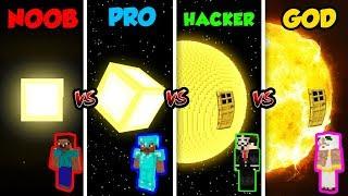 Minecraft NOOB vs. PRO vs. HACKER vs. GOD: SUN BASE in Minecraft! (Animation)