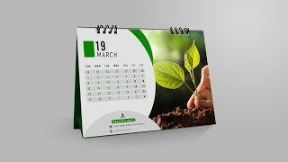 Professional Photo Desk Calendar Design | Photoshop Tutorial