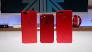 OnePlus 5T Lava Red Hands On Feat. Xiaomi Mi A1 (Mi 5X) Red
