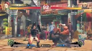 Bullcat (Gouken) Vs Osugi (Cammy) - AE2012 Endless Matches *720p HD*