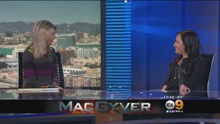 "KCAL9 News: Meredith Eaton from CBS's ""MacGyver"""