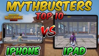 Top 10 MythBusters iPad vs iPhone Recoil Comparison (PUBG MOBILE) Myths + Tips & Tricks