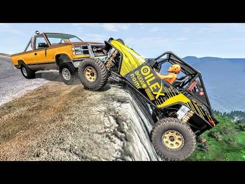 Realistic Cliff Drops #8 - BeamNG Drive Crashes | CrashBoomPunk