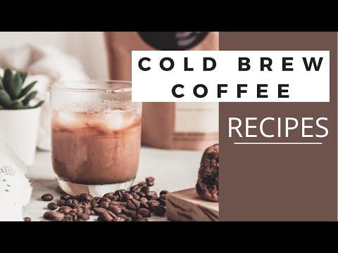 Video DIY COLD BREW COFFEE & 3 DRINK RECIPES!