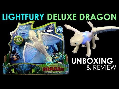 Dragons 3 - Lightfury Deluxe Dragon / Tagschatten !!! NEU !!! Unboxing & Review