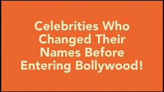 Did you know the Real Name Indian Celebs ?