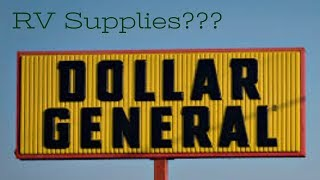 Dollar General for RV Supplies?