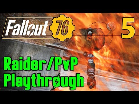 5] Legendary Weapons And Enemies!!! (Fallout 76 Raider PvP