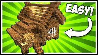 Efficient Wooden Lodge Cabin House Minecraft Tutorial Minecraftvideos Tv