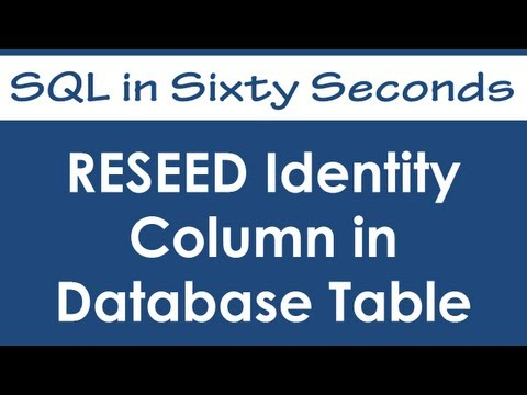 SQL SERVER - Negative Identity Seed Value and Negative Increment Interval 0