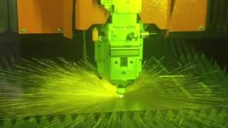 Nukon fiber laser fast cutting demo