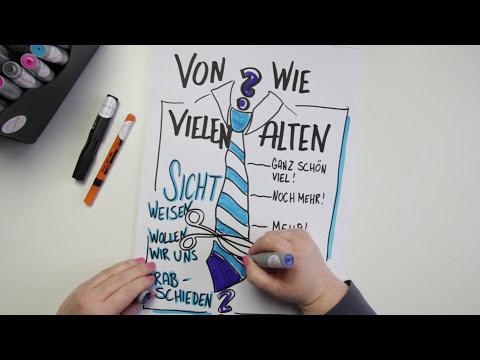 Flipchart - So zeichnest du eine Krawatte