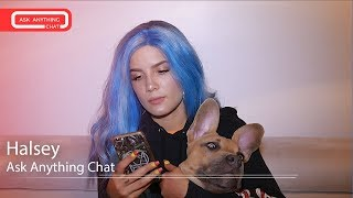 """Halsey's Dog Jagger Acts Cute While She Talks About """"Hopeless Fountain Kingdom"""".  Full Chat Here"""