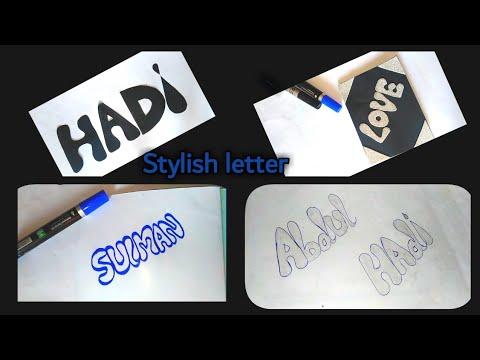 Stylish alphabet writing