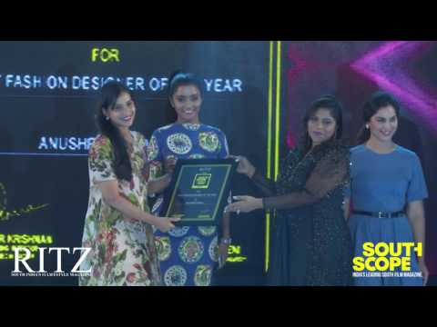Anushree Reddy wins SouthScope's Best Fashion Designer of the year Award