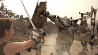 Skyrim (Live action): Fighting Giants, Skeletons and Orcs