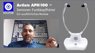 Artiste APH100 Funk-Kopfhörer für Senioren mit toller Ton Qualität - ausführliches Review -