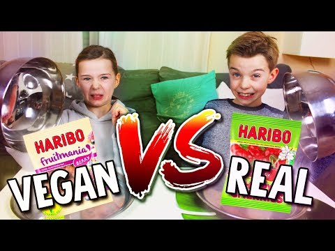 REAL FOOD vs. VEGAN FOOD CHALLENGE - Schmeckt IHR den Unterschied? Lulu & Leon - Family and Fun