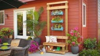 Outdoor Planter Bench