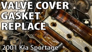 Confirmed how to fix common problem hiccup surge misfire stall 2001 kia sportage oil leak valve cover gasket repair fandeluxe Choice Image