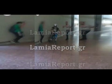 Λαμία: Μαθητής μπήκε με το μηχανάκι στο σχολείο (βίντεο)
