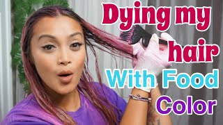 DYING MY HAIR WITH FOOD COLOR