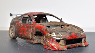 Restoration Abandoned Mitsubishi Eclipse Model Car