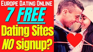 7 Best Free Dating Sites With No Sign Up ✔️ #dating #onlinedating #free #secretdatinghacks