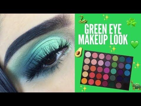 Green Eye Makeup Look Using Morphe 35B Palette