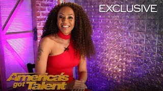 Mel B Reacts To Hitting Golden Buzzer For Amanda Mena - America