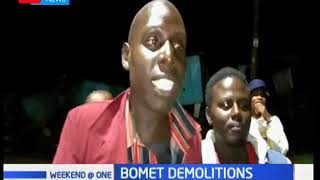 The county government of Bomet has demolished all temporary structures in Bomet town