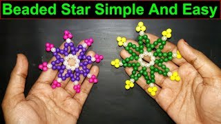 Beaded Star | How To Make Star With Beads Easy