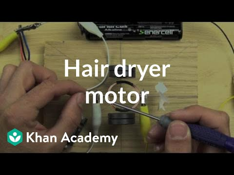 Compare the hair dryer motor to the one you can build (video ... on