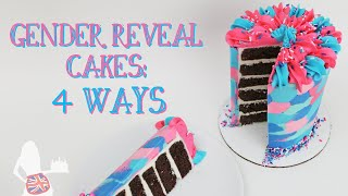 Gender Reveal Cakes 4 Ways