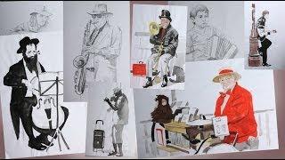 Смотреть онлайн Как правильно нарисовать наброски человека