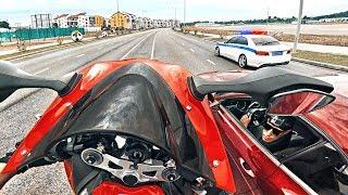 Мажор на дорогом авто подрезал мотоциклиста - Нарвались на ДПС