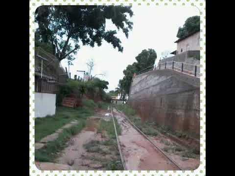 Enchente na cidade de atilio vivacqua...