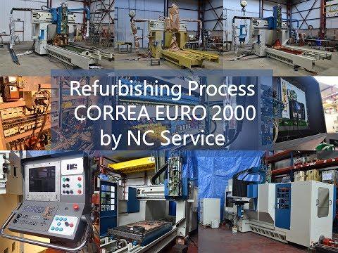 Bridge type milling machine CORREA EURO2000 of 2000 refurbished by NC Service
