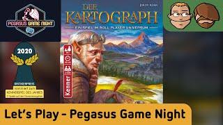 Der Kartograph - Let's Play spezial auf der Pegasus Game Night Spiel 2019