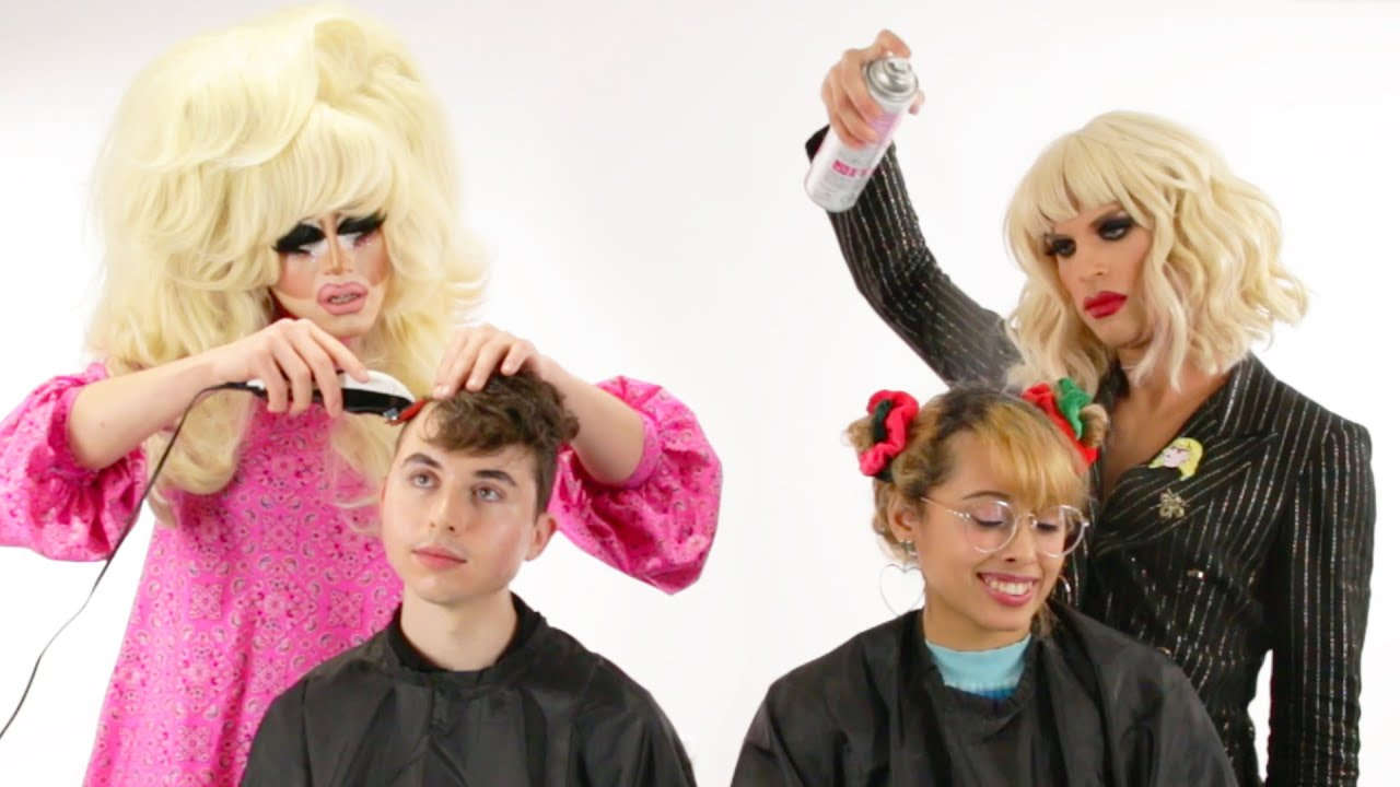 Trixie And Katya Give People Haircuts thumbnail