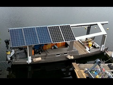 This Guy Showing Off His Homemade Solar Boat Will Warm Your Heart