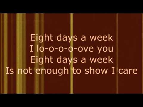 Eight Days a Week - The Beatles (Lyrics)