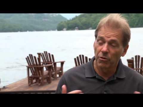 Life on the lake with Nick Saban