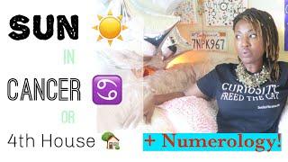 Sun in #Cancer ♋️ #Zodiac Sign  #Astrology + #Numerology