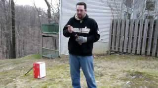 Shooting my homemade match shotgun