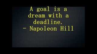 Quotes About Goals - Inspirational/Motivational