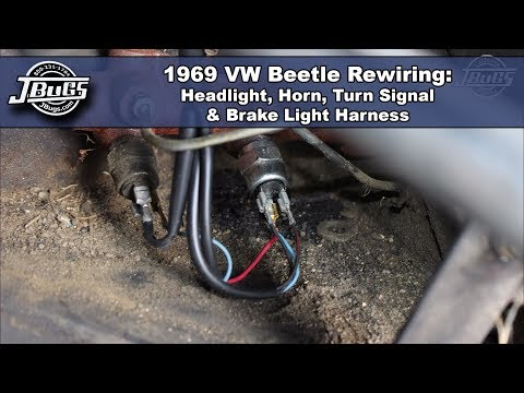 JBugs - 1969 VW Beetle Rewiring - Headlight, Horn, Turn Signal & Brake Light Harnesses