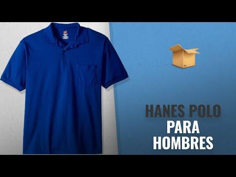 10 Mejores Ventas De Hanes: Hanes Men's Comfortblend Ecosmart Jersey Pocket Polo